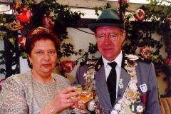 2000/01 Königspaar Clemens Bödeker und Maria Willenborg