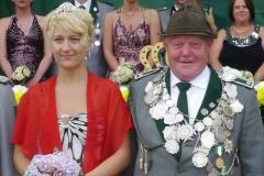 2011/12 Königspaar Karl-Heinz Pieper und Sarah Kamphaus
