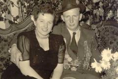 1951/52 Königspaar Josef Hörstmann und Liesel Hölzen