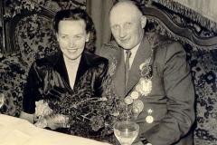 1954/55 Königspaar Josef und Leni gr. Burhoff