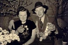 1955/56 Königspaar Josef Ruholl und Agnes Kathmann