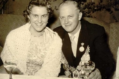 1957/58 Königspaar Franz Willenborg und Christel Schütte