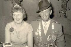 1960/61 Königspaar Josef und Gertrud Heitmann