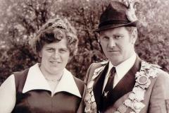1973/74 Königspaar Hubert und Maria Mönnich