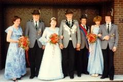 1981/82 Königspaar Bernhard Lohmann und Maria Alterbaum