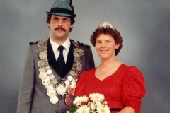 1984/85 Königspaar Bernhard und Doris Meyer