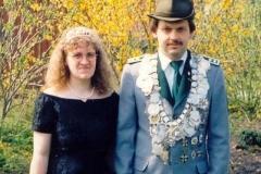 1994/95 Königspaar Eckhard und Andrea Sattler