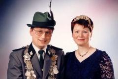 1995/96 Königspaar Josef und Gabriele Bischof